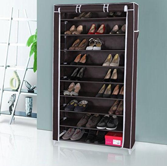 une étagères en tissu pour ranger les chaussures