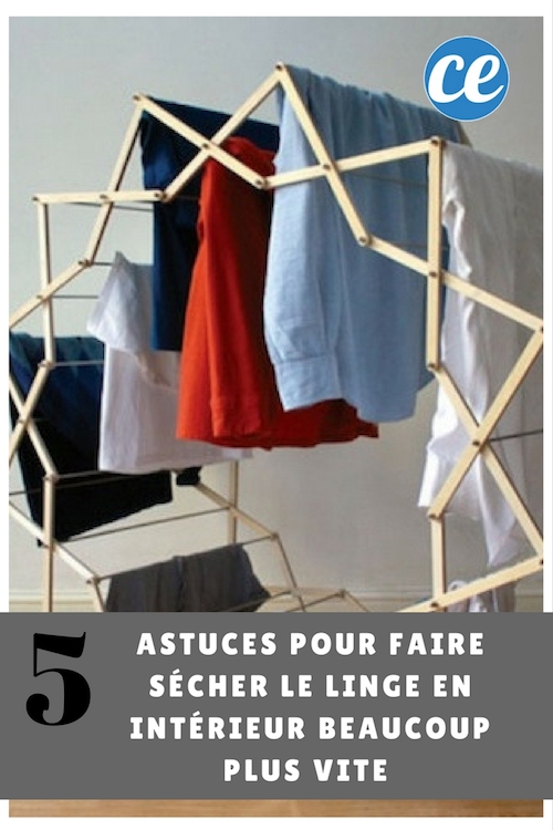 5 astuces pour faire s cher le linge en int rieur beaucoup plus vite. Black Bedroom Furniture Sets. Home Design Ideas
