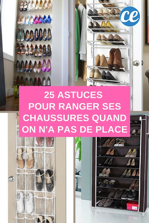 25 astuces g niales pour ranger ses chaussures quand on n 39 a pas de place. Black Bedroom Furniture Sets. Home Design Ideas