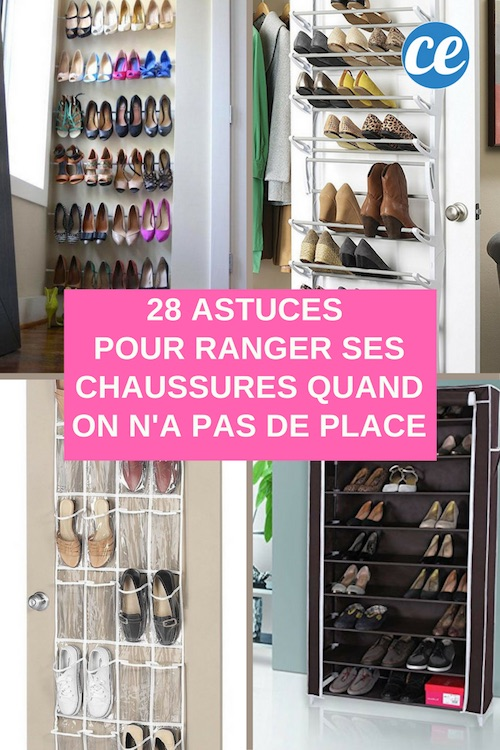 28 astuces g niales pour ranger ses chaussures quand on n 39 a pas de place. Black Bedroom Furniture Sets. Home Design Ideas