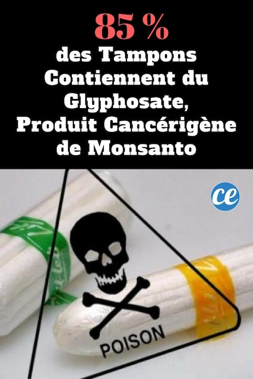 des tampons contiennent de l'herbicide