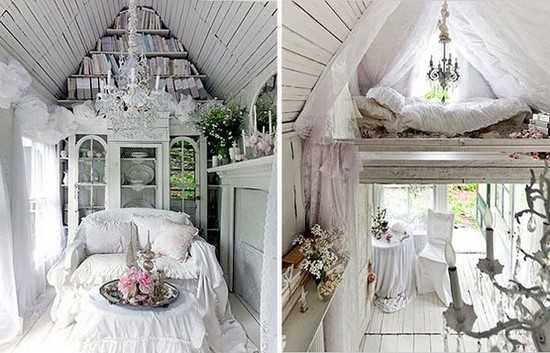 intérieur d'un mini cottage bien aménagé