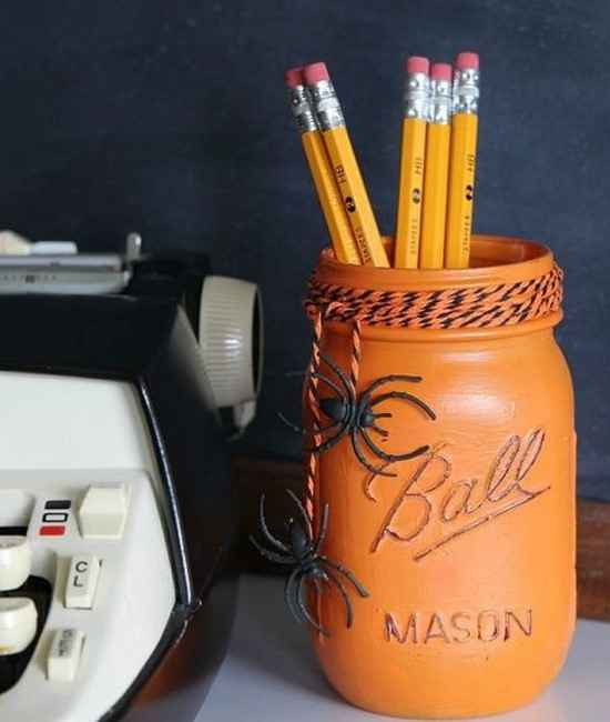 pot à crayon déco pour halloween