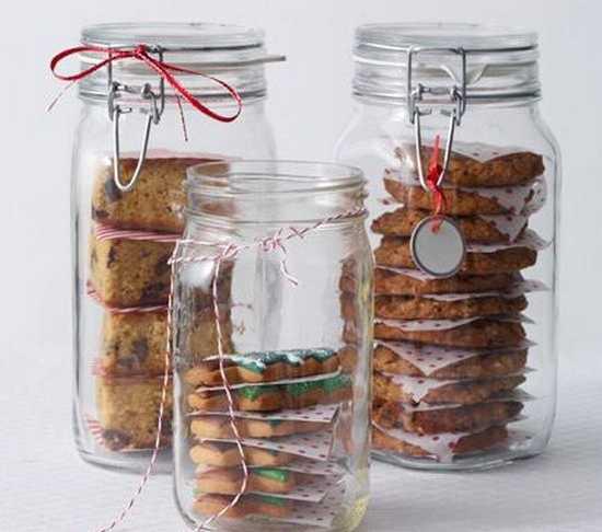 bocal en verre pour conserver et offrir des gâteaux