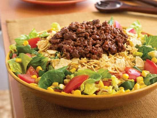 Quelle est la recette de la salade mexicaine à moins de 400 calories ?