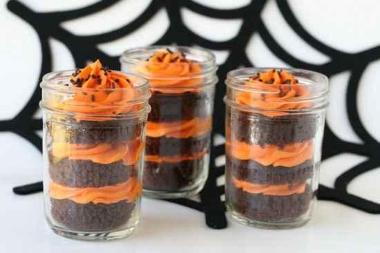 cup cakes chocolat orange Halooween