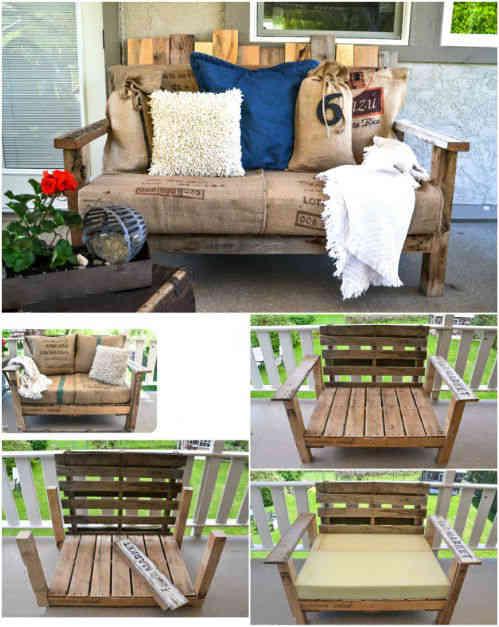 36 fa ons ing nieuses de recycler de vieilles palettes en mobilier d 39 ext rieur. Black Bedroom Furniture Sets. Home Design Ideas