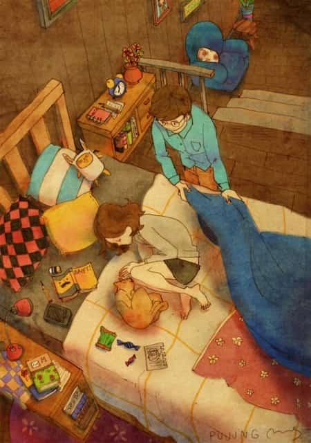 21 dessins adorables sur la vie de couple qui vous r chaufferont le coeur - Pimenter sa vie de couple au lit ...