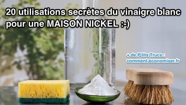 Le vinaigre blanc, un peu de bicarbonate et une bonne brosse sont tout dont vous avez besoin poiur nettoyer votre maison facilement et SANS nuire à l'environnement !