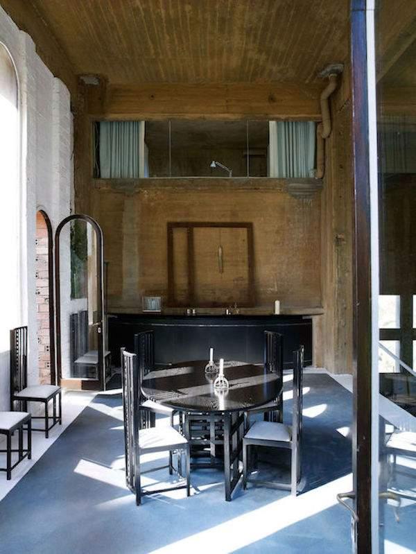 salle à manger dans maison d'architecte