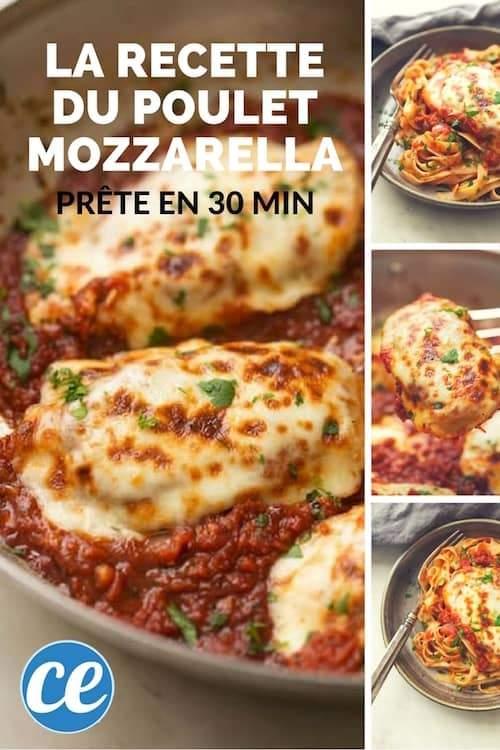 Rapide Facile Et Trop Bon La Recette Du Poulet Mozzarella A La