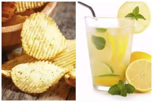 des chips et de la limonade pour lutter contre les nausées pendant la grossesse