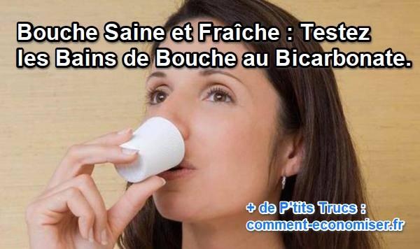 bain de bouche au bicarbonate