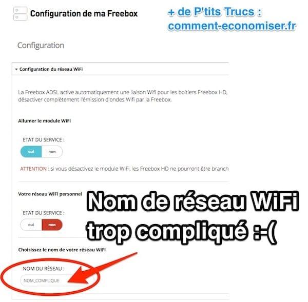 Voici comment voir le nom de votre réseau WiFi de la Freebox.