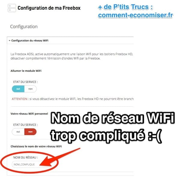 comment modifier son code free wifi