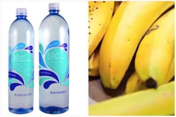 de l'eau alcanisée et des bananes luttent contre les crampes pendant la grossesse