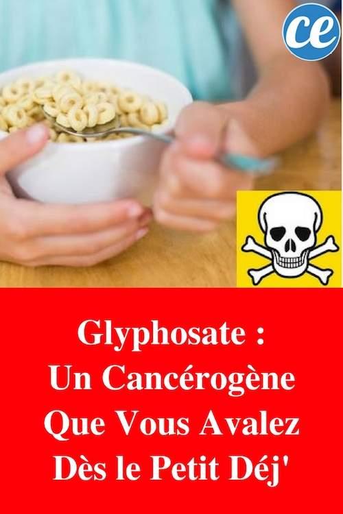 Danger du Glyphosate dans-cereales