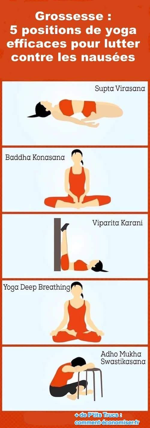 des positions de yoga pour soulager les nausées pendant la grossesse