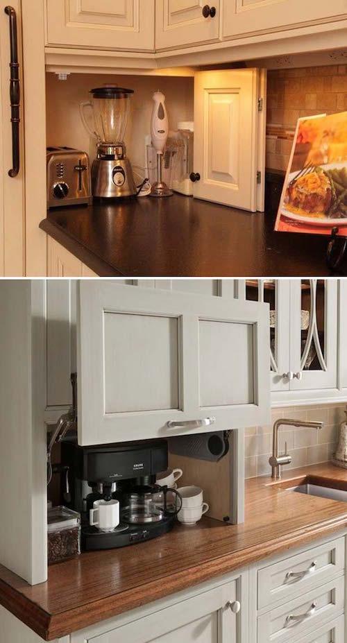 21 astuces g niales pour gagner de la place dans la cuisine - Electromenager pour petite cuisine ...