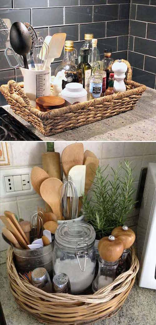 21 astuces g niales pour gagner de la place dans la cuisine - Comment ranger la vaisselle dans la cuisine ...