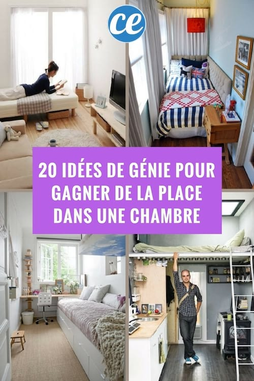 20 id es de g nie pour gagner facilement de la place dans une chambre. Black Bedroom Furniture Sets. Home Design Ideas