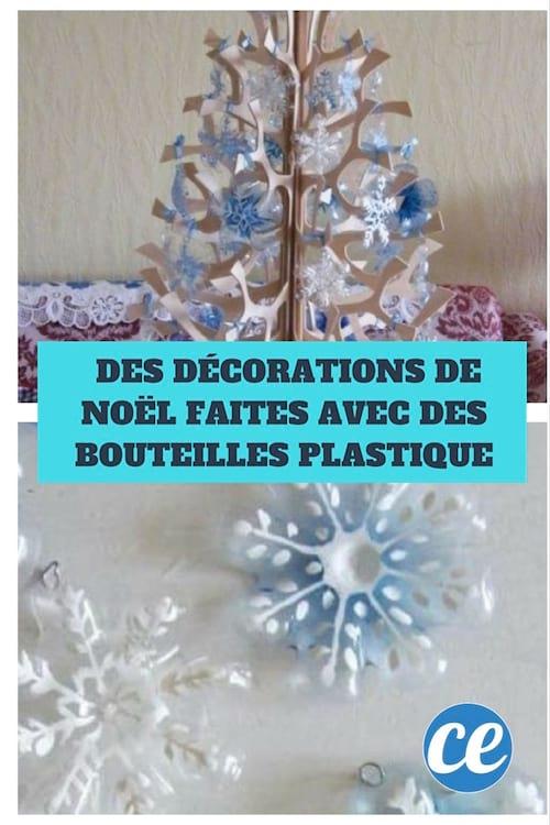 recyclez vos bouteilles en plastique pour cr er des d corations de no l. Black Bedroom Furniture Sets. Home Design Ideas