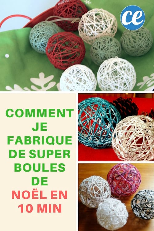 comment je fabrique de super boules de no l en 10 min. Black Bedroom Furniture Sets. Home Design Ideas