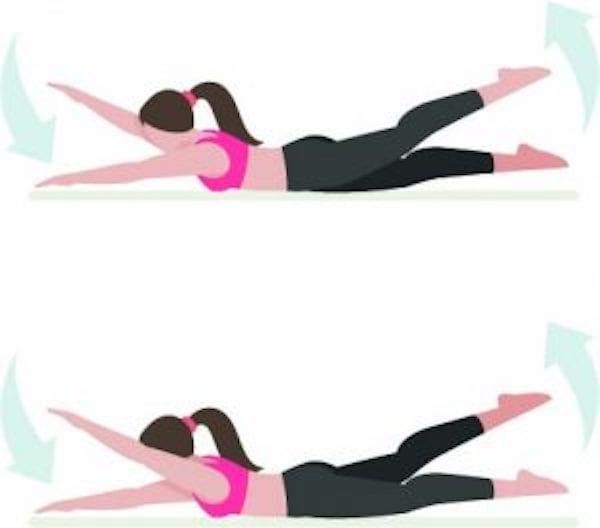 Entraînement abdo en 6 min : pour avoir le ventre plat et les abdos musclés, faites l'exercice de la battements alternés.