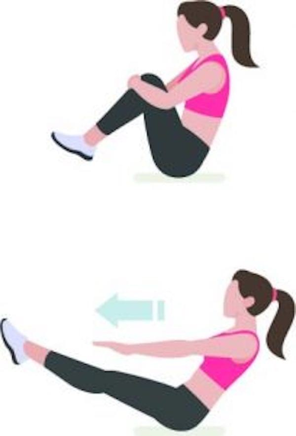 Entraînement abdo en 6 min : pour avoir le ventre plat et les abdos musclés, faites l'exercice du point d'équilibre.