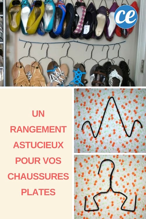un rangement diy astucieux pour vos chaussures plates. Black Bedroom Furniture Sets. Home Design Ideas