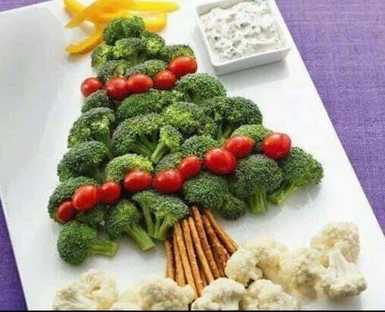 une entrée de légumes pour Noël