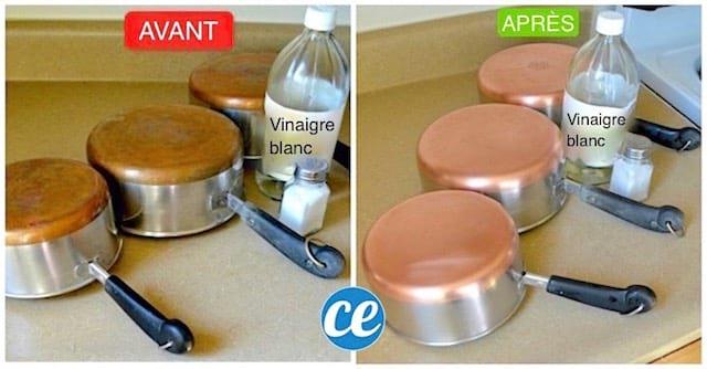 Le secret de cuistot pour que vos casseroles en cuivre retrouvent enfin tout leur clat - Vinaigre blanc pour nettoyer ...