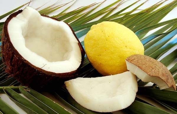 huile coco et citron pour lisser cheveux