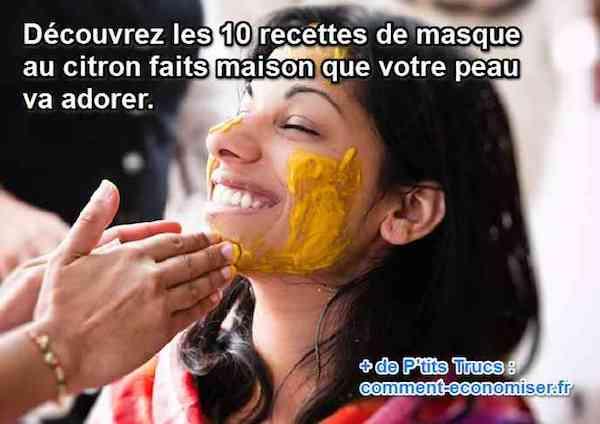 recettes masques visage au citron maison
