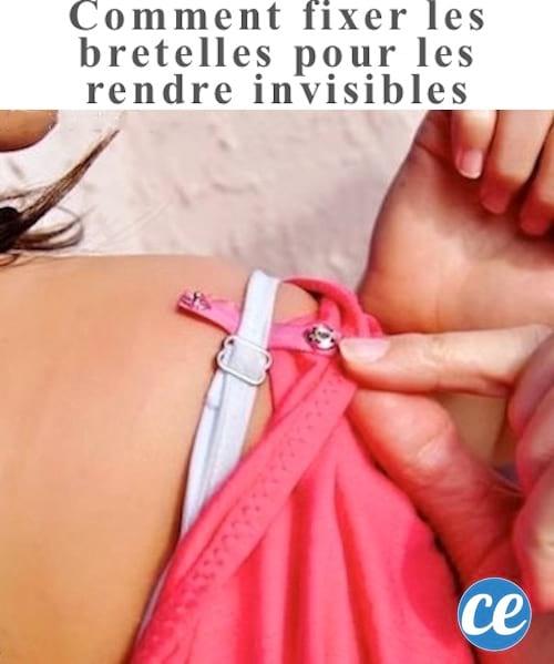 L'astuce pour rendre les bretelles de soutien-gorge invisibles