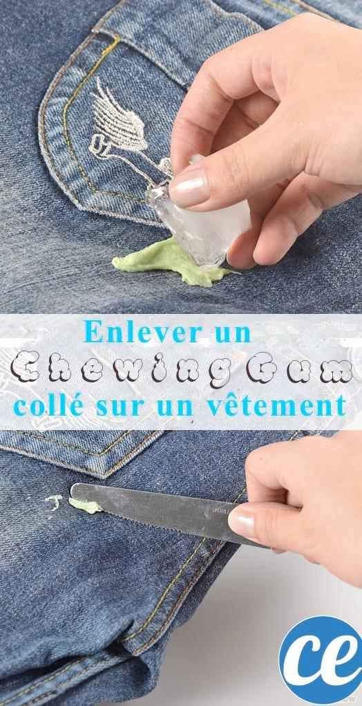 Comment enlever chewing-gum sur un vêtement
