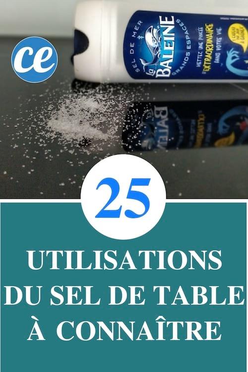 25 utilisations du sel de table que personne ne connait