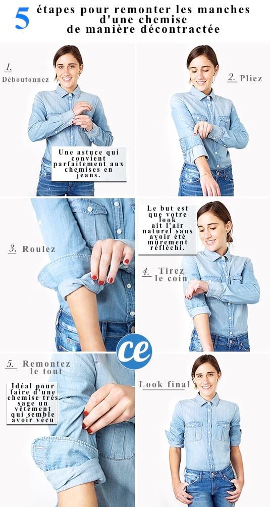 comment faire tenir les manches remontées