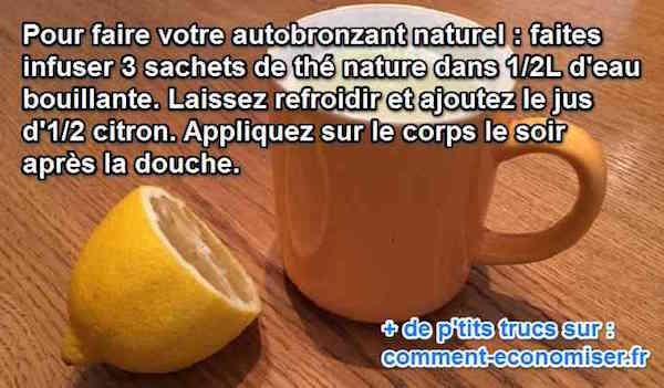 l 39 autobronzant naturel et durable au citron. Black Bedroom Furniture Sets. Home Design Ideas