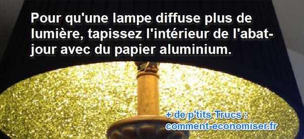 diffuser plus de lumière grace à l'aluminium