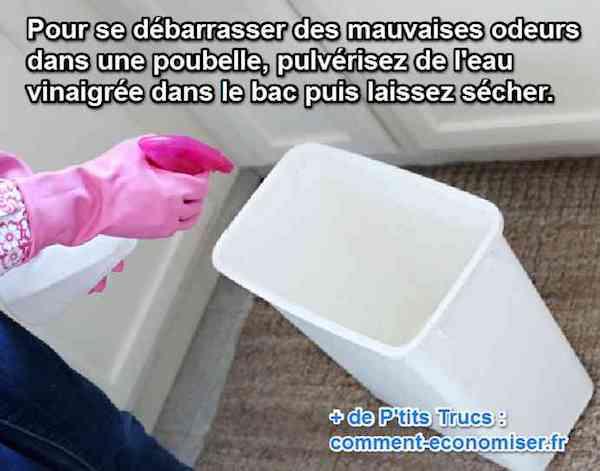 L 39 astuce efficace pour se d barrasser des mauvaises odeurs de poubelle - Comment se debarrasser des vers blancs ...