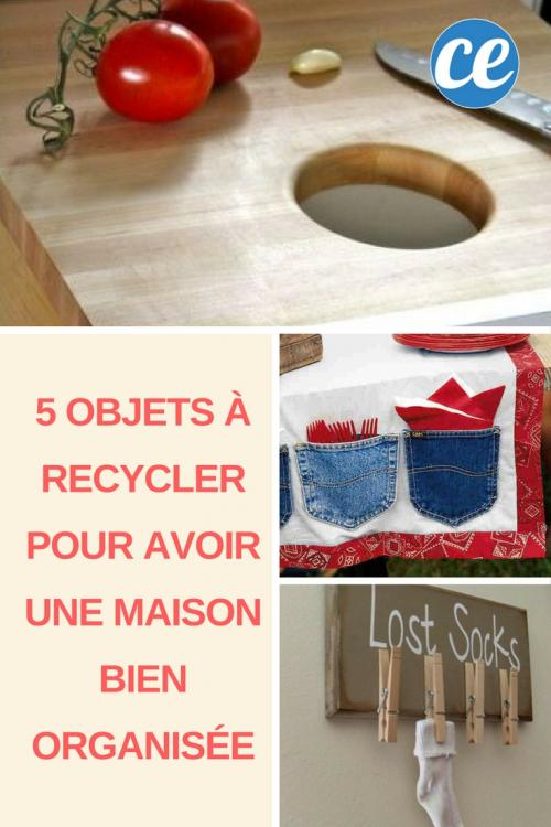 5 objets faciles recycler pour avoir une maison bien organis e. Black Bedroom Furniture Sets. Home Design Ideas