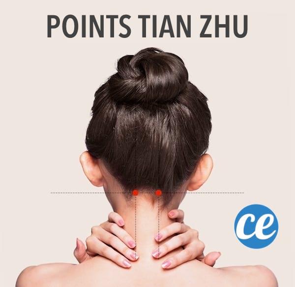 Utilisez la technique d'acupressionTian Zhupour disparaître lesdouleurs de vos maux de tête sans utiliser d'aspirine ou de paracétamol.