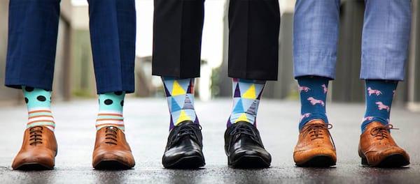 Les chaussettes originales sont anticonformistes.