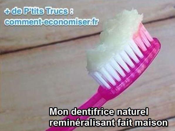 recette facile du Dentifrice reminéralisant maison