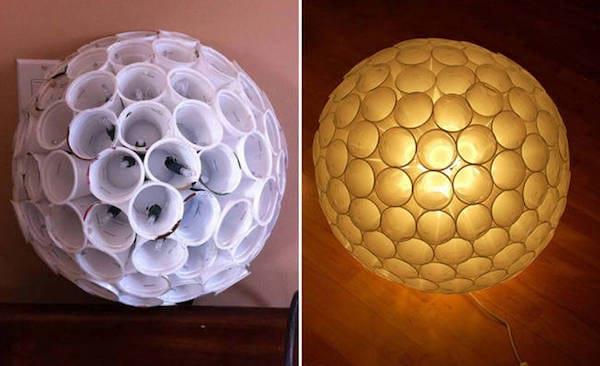 boule lumineuse avec capsule café