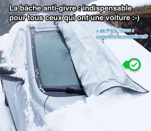 la bâche anti-givre protège la voiture du givre
