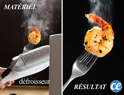 Un défroisseur ajoute plus de vapeur à vos clichés nourriture.