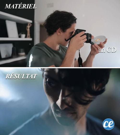 Utilisez un simple CD comme réflécteur photo.