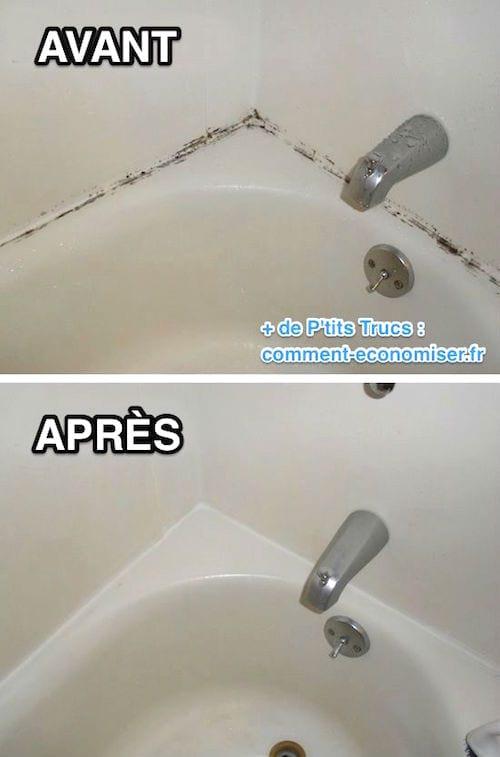 Astuce pour nettoyer les joints noircis avec de l'eau de javel